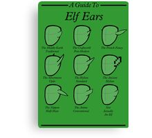 An Auricular Guide to the Elven Peoples Canvas Print
