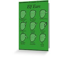 An Auricular Guide to the Elven Peoples Greeting Card