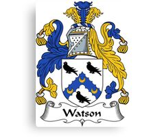 Watson Coat of Arms / Watson Family Crest Canvas Print