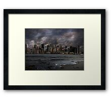 Destruction in the city Framed Print