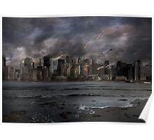 Destruction in the city Poster