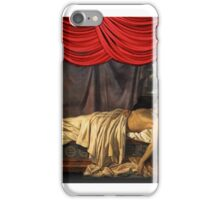 Lord Byron On His Death-bed, Joseph Denis Odevaere  iPhone Case/Skin
