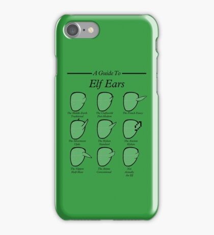 An Auricular Guide to the Elven Peoples iPhone Case/Skin