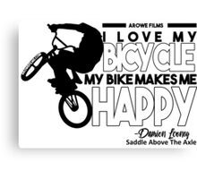 I Love My Bicycle (Black) Canvas Print