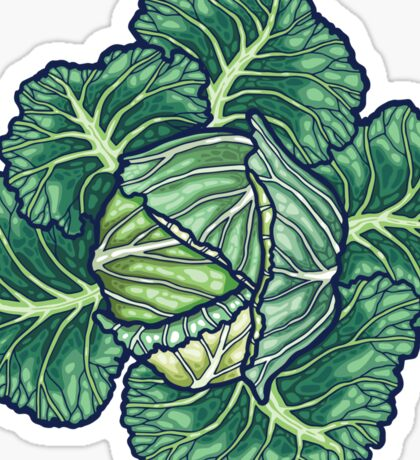 dreaming cabbages Sticker