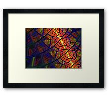 Stained Glass - Fractal Style Framed Print