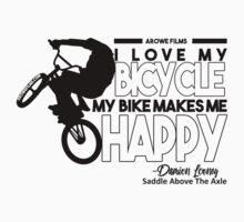 I Love My Bicycle (Black) Kids Tee