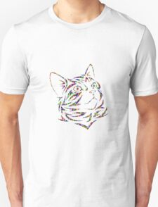 cat head abstract  Unisex T-Shirt