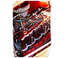 Vintage Ford coupe engine Poster