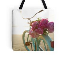 Beach cruiser with peonies #2 Tote Bag