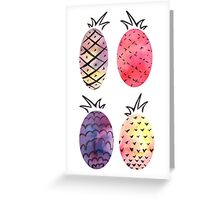 Pineapple Pattern Greeting Card