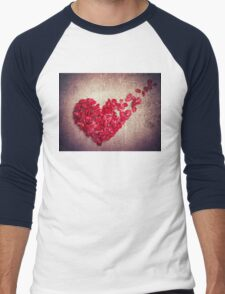 broken heart Men's Baseball ¾ T-Shirt