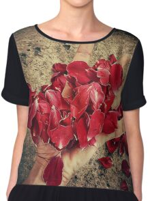 blood petals Chiffon Top