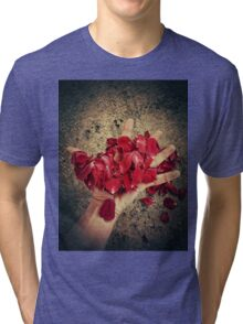 blood petals Tri-blend T-Shirt
