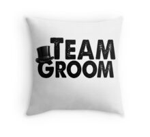 Team Groom Bachelor Party Stag Best Man Groomsmen Men Funny Wedding Gifts Favors Throw Pillow