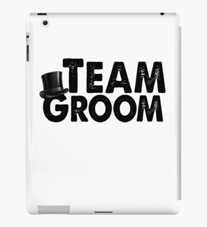 Team Groom Bachelor Party Stag Best Man Groomsmen Men Funny Wedding Gifts Favors iPad Case/Skin