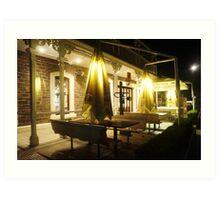 Night Scene Two - Restaurant Art Print