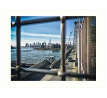 Manhattan By Bridge  Art Print