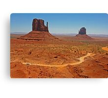 Left and Right Mittens Road Canvas Print