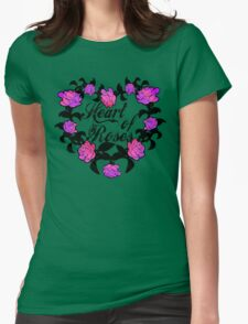 Heart of roses Womens Fitted T-Shirt