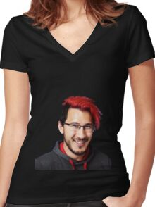 Markiplier  Women's Fitted V-Neck T-Shirt