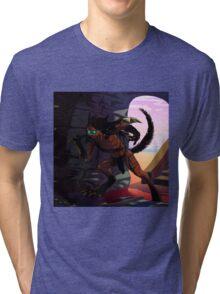 Neko hunter warrior Tri-blend T-Shirt
