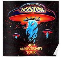 boston 40 tour 2016 Poster