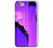 Retro Wave Neon Storm - Glitch Art Print iPhone Case/Skin