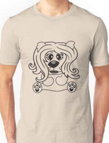 girls, women, female long hair nice pretty sitting Teddy comic cartoon sweet cute Unisex T-Shirt