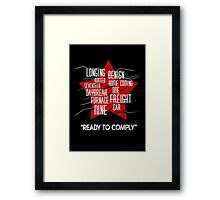 activation winter soldier Framed Print