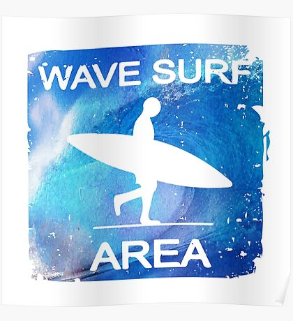 Wave Surf Area Poster