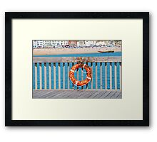 Bee swarm on Hastings pier Framed Print