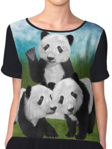 Panda Cubs Chiffon Top