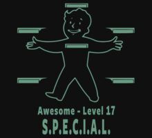 Pipboy - Awesome Level 17 Kids Tee