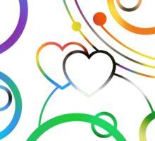 Homoflexible in Circular Gallifreyan (w/ hearts) Sticker