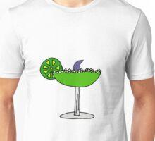 Funny Cool Shark Fin in Margarita Glass Unisex T-Shirt