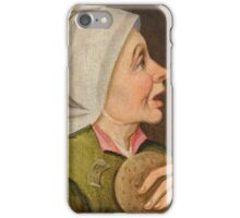 CLEVE, MARTEN VAN () Depiction of a peasant woman,  an allegory of the month of February iPhone Case/Skin