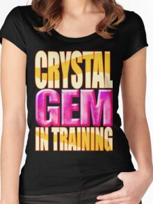 Crystal GEM In Training Women's Fitted Scoop T-Shirt