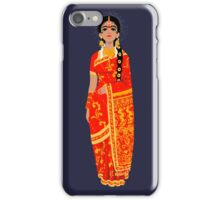 Original Work - Lady in Kanchi Saree iPhone Case/Skin