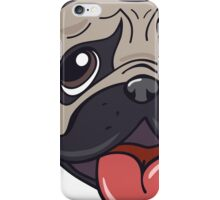 Cartoon pug dog head print iPhone Case/Skin