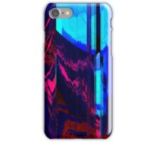 Retro Wave Glitch Blast - Glitch Art Print iPhone Case/Skin