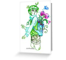 Plant Boy- Backpack Greeting Card