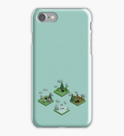 Isometric Art-- Seasons iPhone Case/Skin