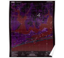 USGS TOPO Map Alabama AL Orange Beach 304754 1994 24000 Inverted Poster