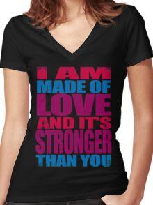 Garnet VS Jasper Women's Fitted V-Neck T-Shirt