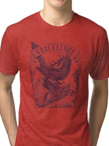 The Grackelope (maroon) Tri-blend T-Shirt
