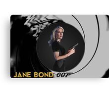 Gillian Anderson for Jane Bond Canvas Print