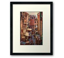 Via Discovolo Manarola Cinque Terre Italy Framed Print