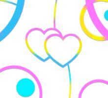 Panromantic in Circular Gallifreyan (w/ hearts) Sticker