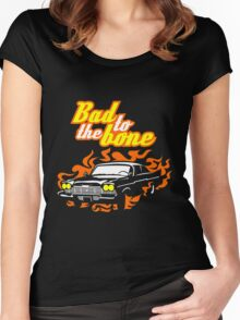 Plymouth Fury - Bad to the bone Women's Fitted Scoop T-Shirt